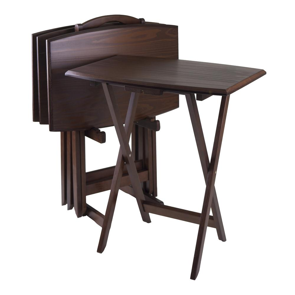Winsome 94517 5pc Oversize TV Table  in AntiqueWalnut