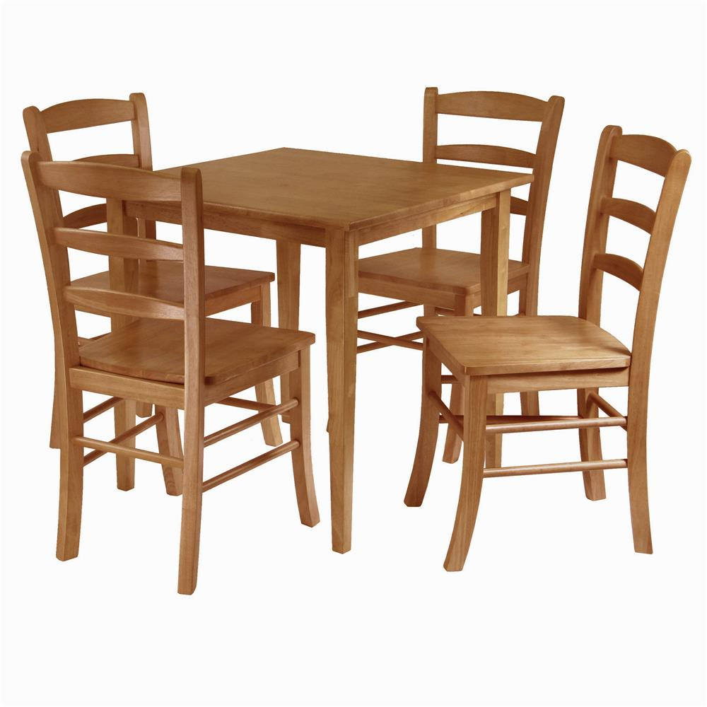 Dining table with price - 34530 Winsome 34530 Groveland 5 Pc Dining Table With 4 Chairs In Lightoak Goingdecor