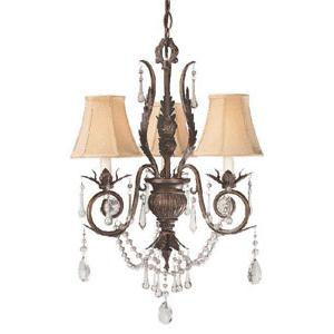 World Imports Berkeley Square 750-62 3 Lt. Chandelier