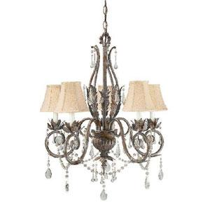 World Imports Berkeley Square 751-62 5 Lt. Chandelier