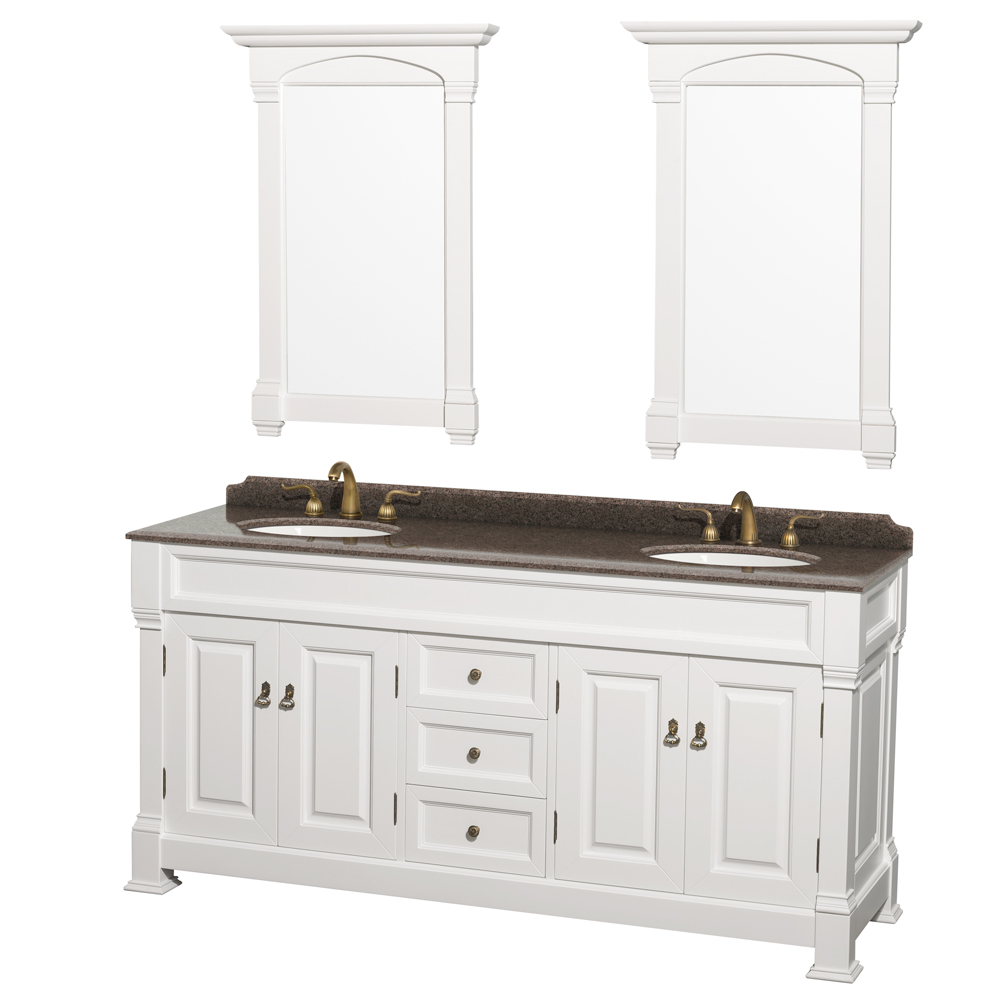 Wcvtrad72dwhibunom28 wyndham collection wcvtrad72dwhibunom28 andover 72 inch double bathroom - Double bathroom vanities granite tops ...