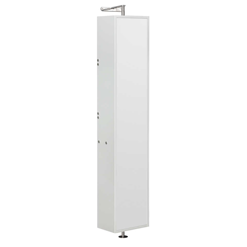 """Wyndham Collection WCRYV202WH Amare 13.875"""" Linen Tower in Glossy White"""