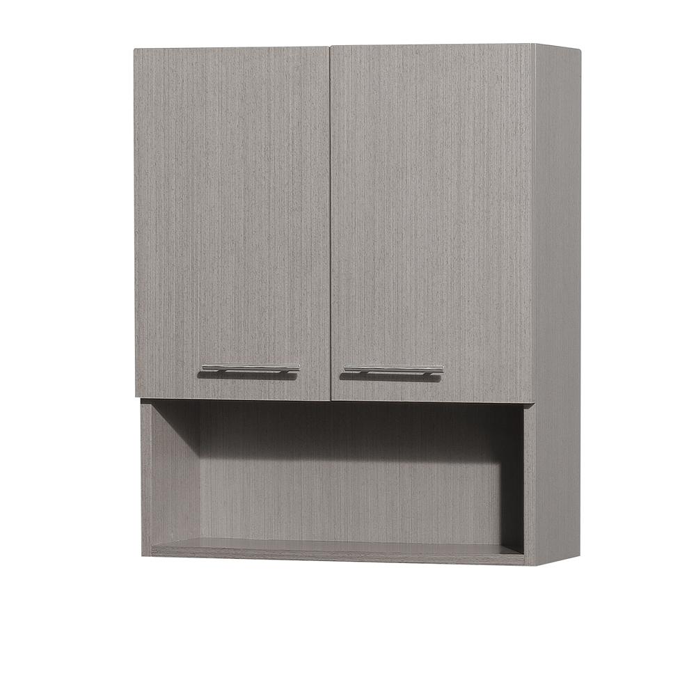 "Wyndham Collection WCV207GO Centra 24"" Wall Cabinet in Grey Oak"