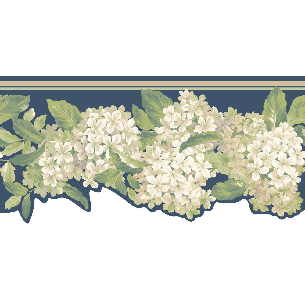 Inspired by Color by York Wallcoverings AK7439B Border Book Hydrangea Border