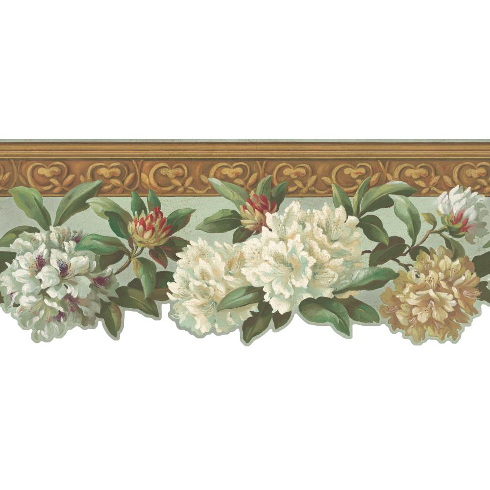 Inspired by Color by York Wallcoverings HA1297B Border Book Rhododendron Border