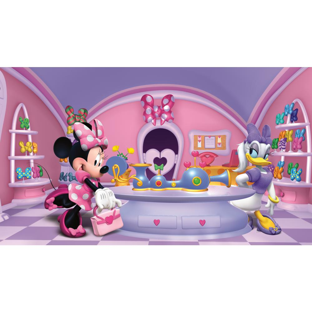 York Wallcoverings JL1302M WALT DISNEY KIDS II MINNIE FASHIONISTA MURAL
