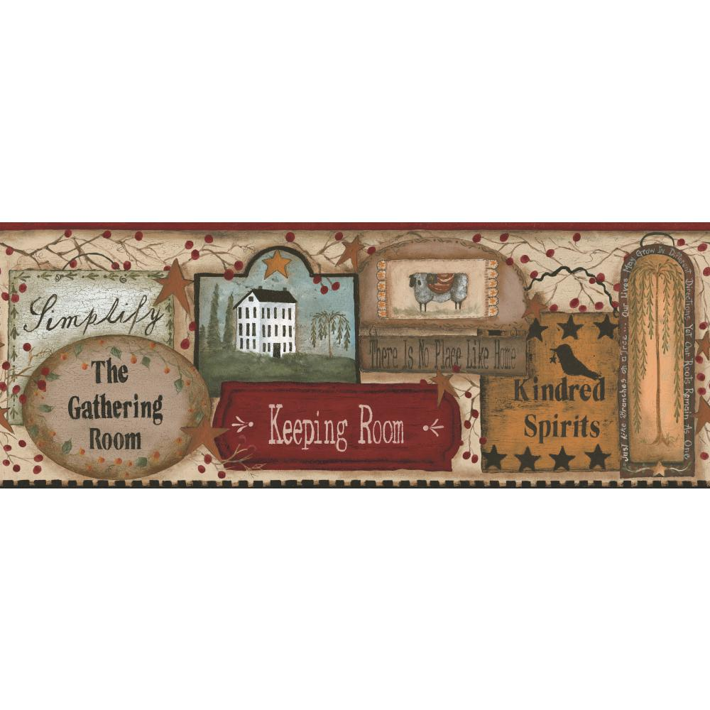 Inspired by Color by York Wallcoverings RF3566BD Border Book The Gathering Room Border
