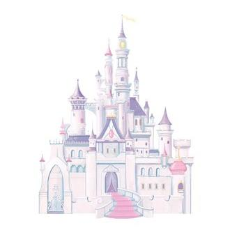 York Wallcoverings RMK1546GM WALT DISNEY KIDS II DISNEY CASTLE GIANT WALL DECAL