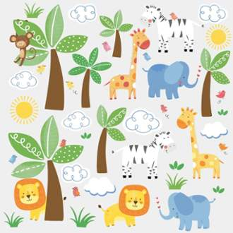 York Wallcoverings RMK2635SCS ROOM TO GROW BABY SAFARI WALL DECAL