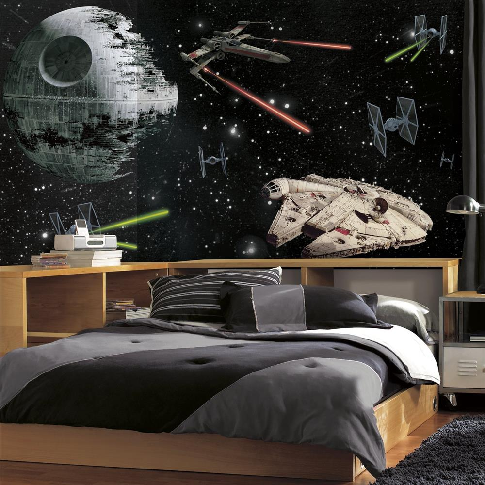RoomMates by York  JL1399M Star Wars Classic Vehicles XL Chair Rail Prepasted Mural 6