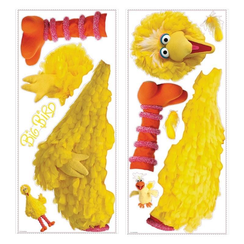 RoomMates by York  RMK1481GM Sesame Street Big Bird Peel & Stick Giant Wall Decal in Yellow