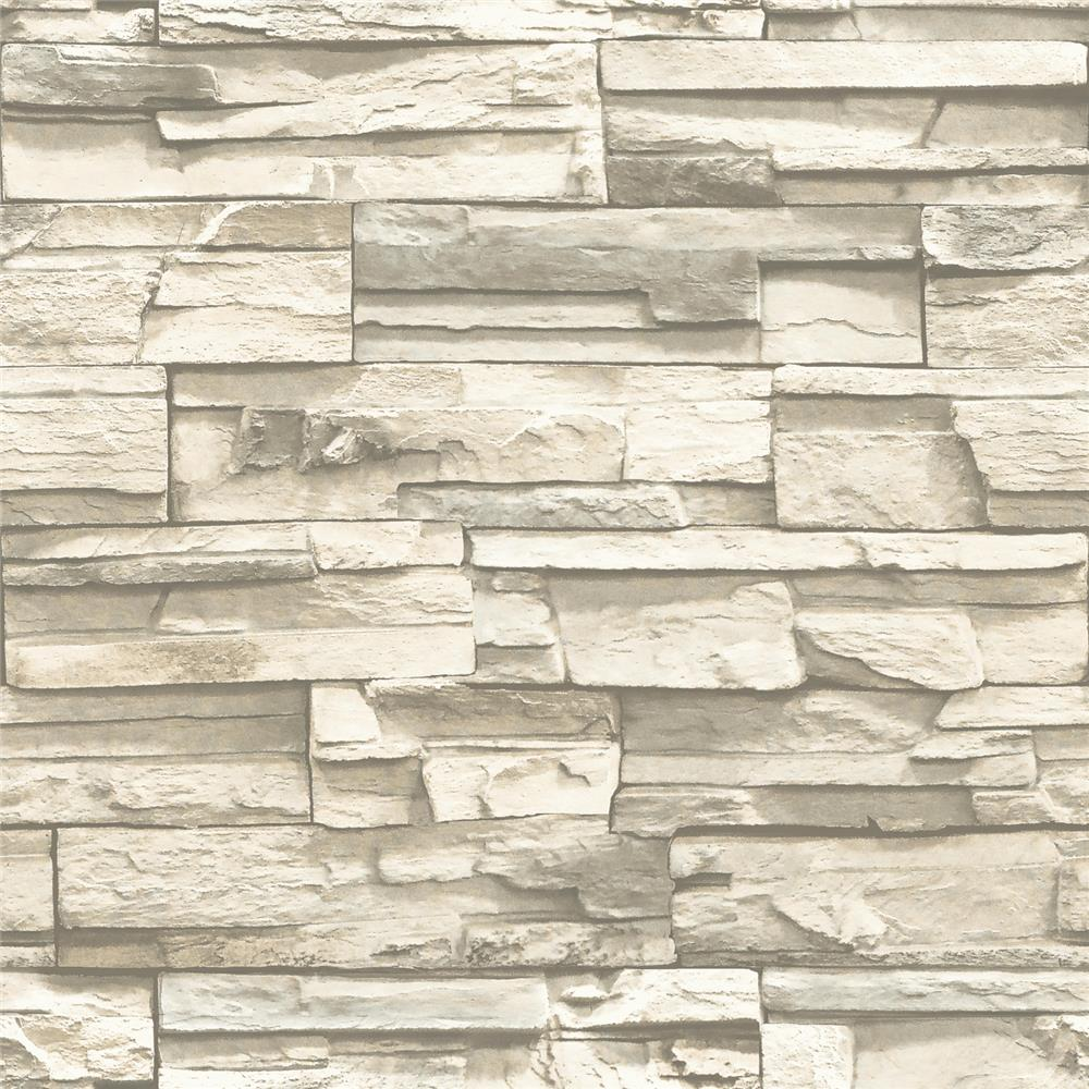 Roommates by York RMK9026WP Natural Stacked Stone Peel and Stick Wall Decor