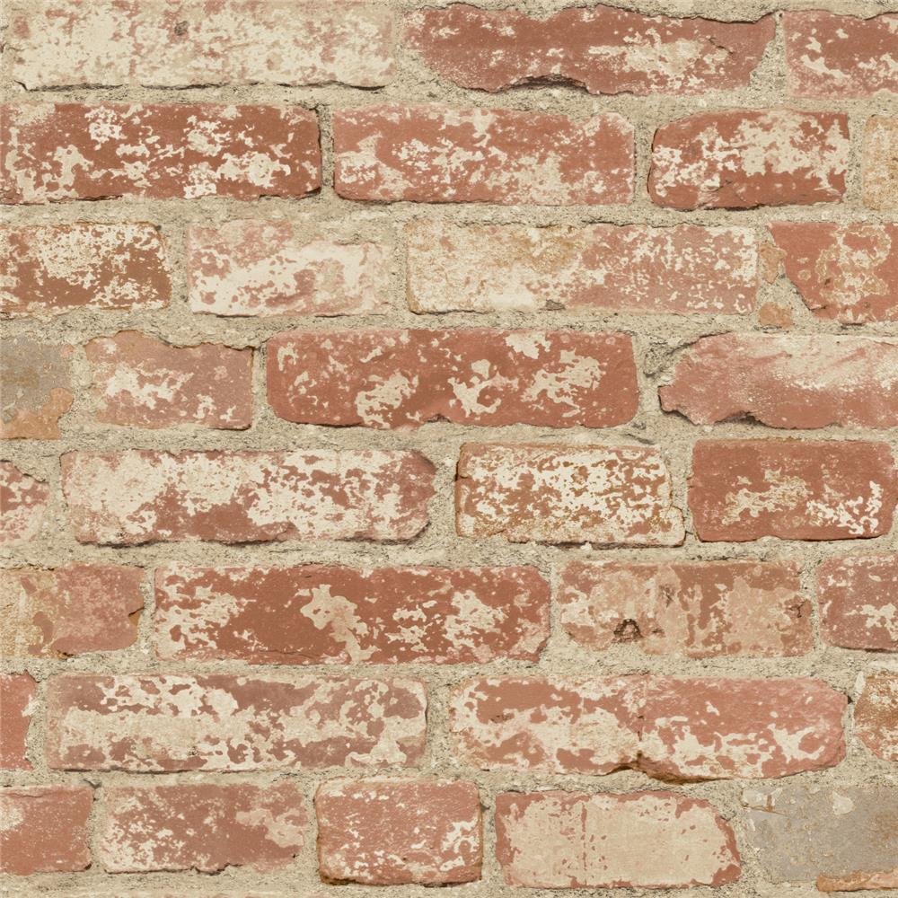 Roommates by York RMK9035WP Stuccoed Red Brick Peel and Stick Wall Decor