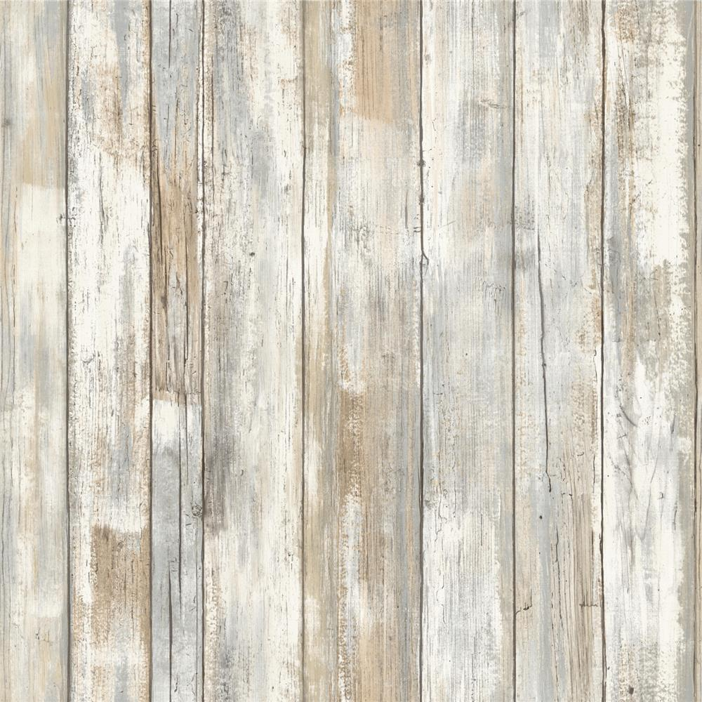 Roommates by York RMK9050WP Distressed Wood Peel and Stick Wall Decor