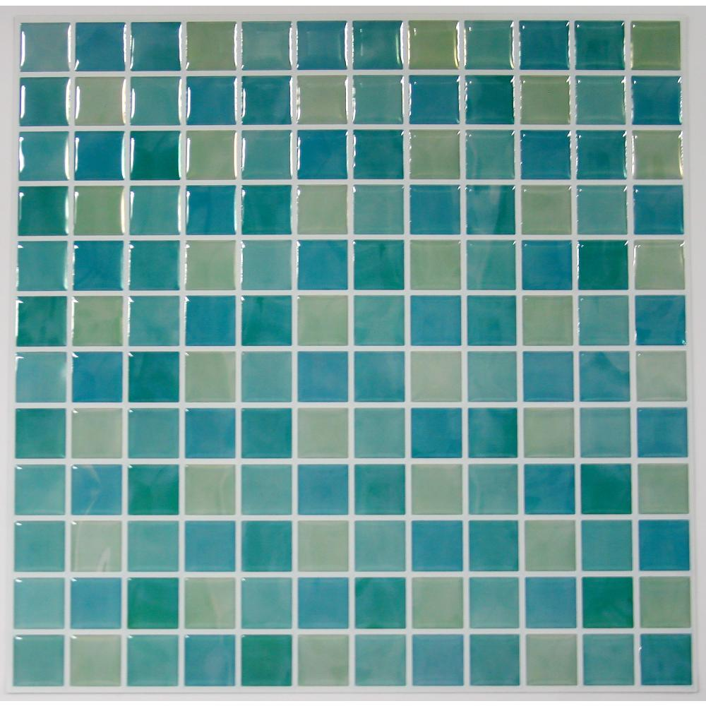 StickTILES by RoomMates TIL3226FLT Blue Mosaic StickTILES™ - 4 Pack