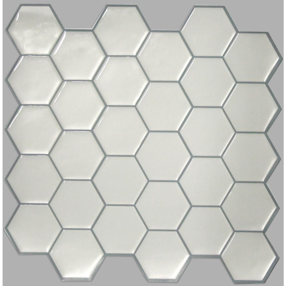 StickTILES by RoomMates TIL3231FLT Pearl Hexagon StickTILES™ - 4 Pack