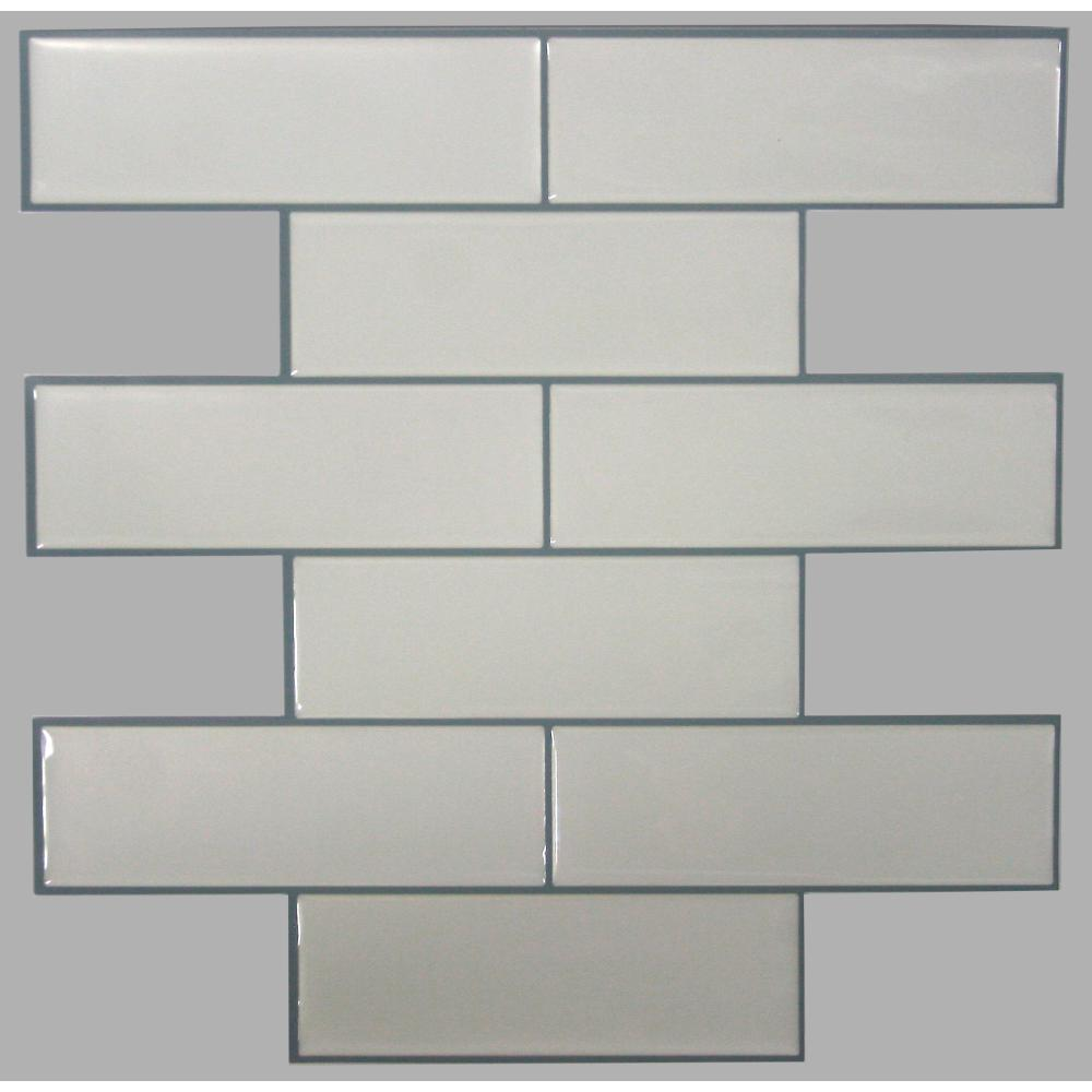 StickTILES by RoomMates TIL3232FLT Classic Subway StickTILES™ - 4 Pack