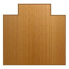 Anji Mountain 47 Inch x 51 Inch NATURAL Bamboo Tri-Fold Office Chair Mat AMB0500-1002