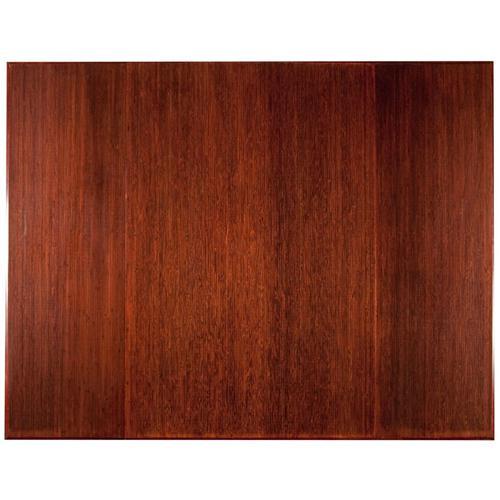 Anji Mountain 47 Inch x 60 Inch DARK CHERRY Bamboo Tri-Fold Office Chair Mat AMB0500-1009
