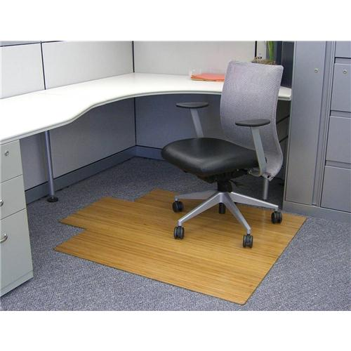 Anji Mountain 4 Inch Slat 44 Inch x 52 Inch NATURAL Bamboo Roll-Up Chair Mat AMB24005W