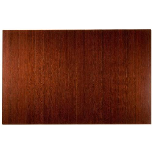 Anji Mountain 4 Inch Slat 48 Inch x 72 Inch DK. CHERRY Bamboo Roll-Up Chair Mat AMB24015W