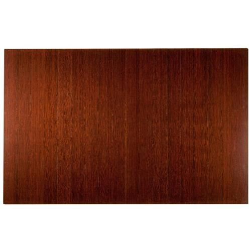 Anji Mountain 4 Inch Slat 48 Inch x 72 Inch DK. CHERRY Bamboo Roll-Up Chair Mat AMB24015W