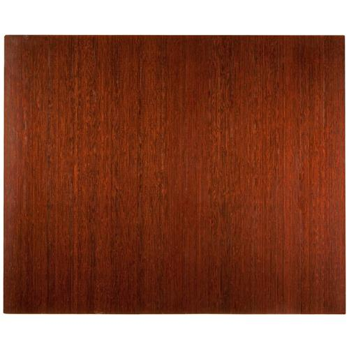 Anji Mountain 4 Inch Slat 48 Inch x 60 Inch DK. CHERRY Bamboo Roll-Up Chair Mat AMB24023W