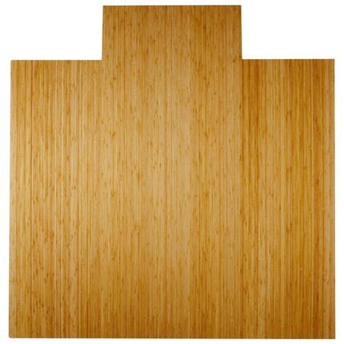 Anji Mountain 4 Inch Slat 55 Inch x 57 Inch NATURAL Bamboo Roll-Up Chair Mat AMB24024W
