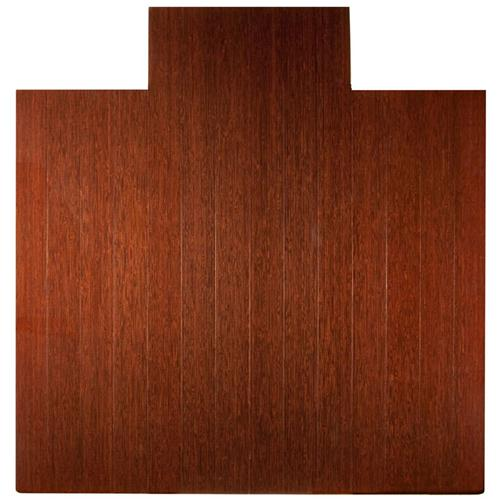 Anji Mountain 4 Inch Slat 55 Inch x 57 Inch DK. CHERRY Bamboo Roll-Up Chair Mat AMB24025W