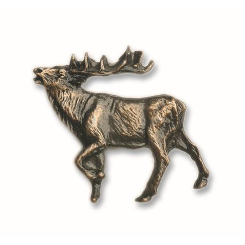 Buck Snort Lodge 051AB WALKING ELK - LEFT FACE in Antique Brass