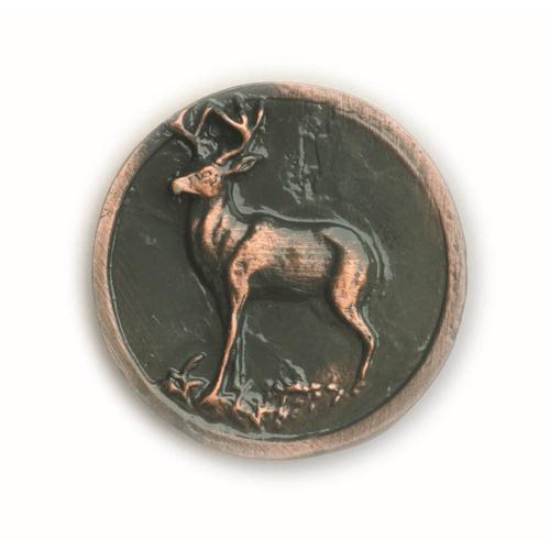 Buck Snort Lodge 052AC WHITETAIL ROUND in Antique Copper
