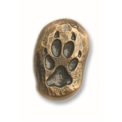 Buck Snort Lodge 160AB SINGLE WOLF TRACK-RIGHT FACE  in Antique Brass