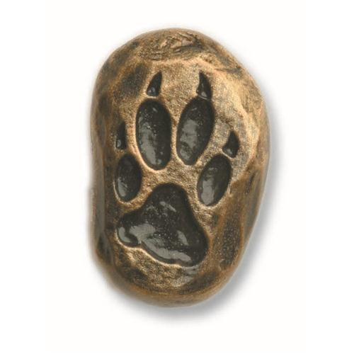Buck Snort Lodge 161AB SINGLE WOLF TRACK-LEFT FACE in Antique Brass