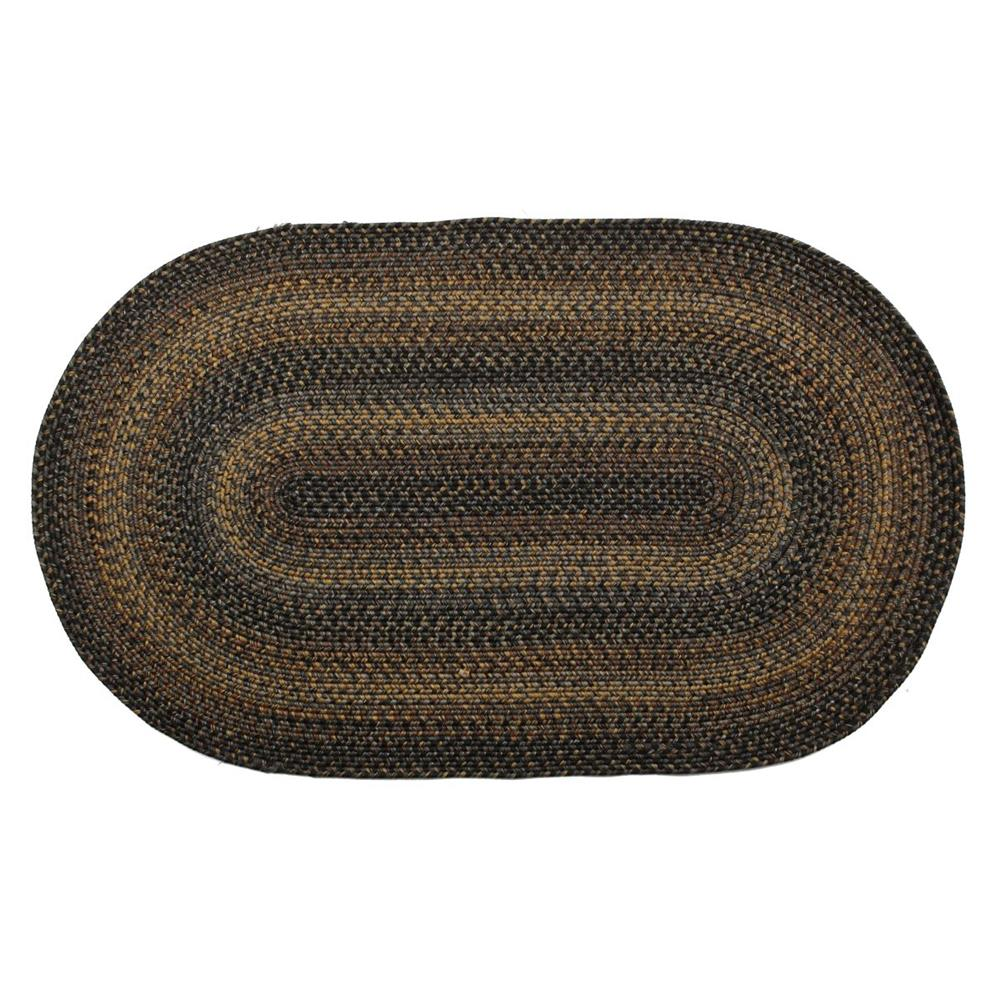"Homespice Décor 321022 20"" x 30"" Black Forest Indoor/Outdoor Braided Rug"