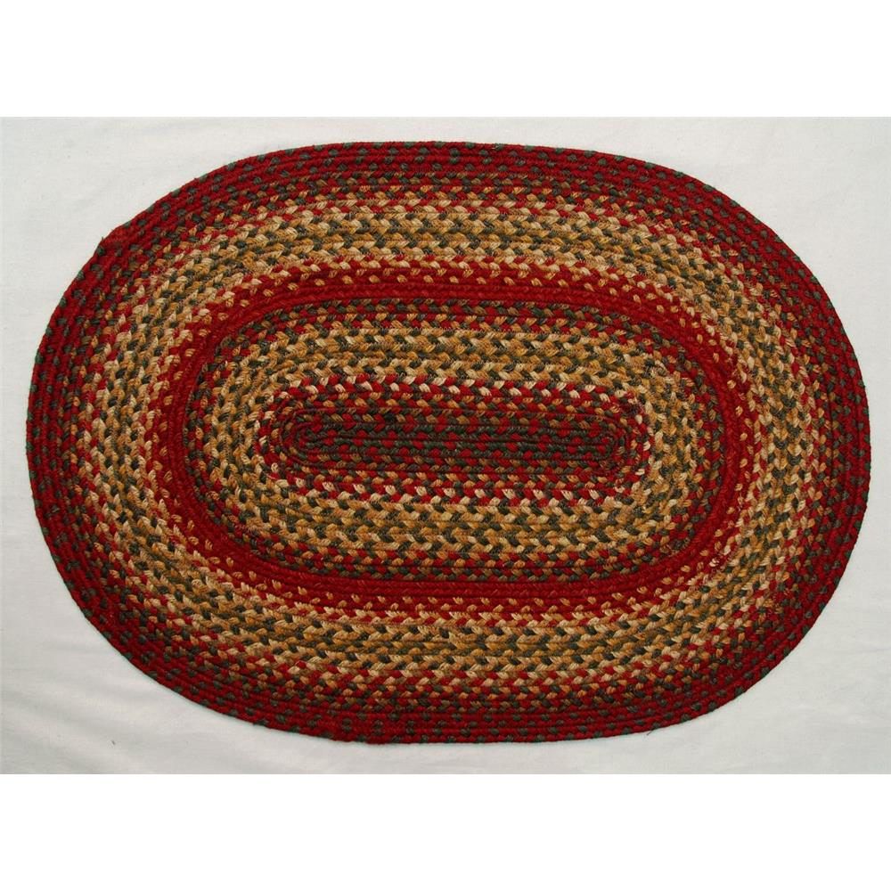 "Homespice Décor 501127 20"" x 30"" Cider Barn  Jute Braided Rug"