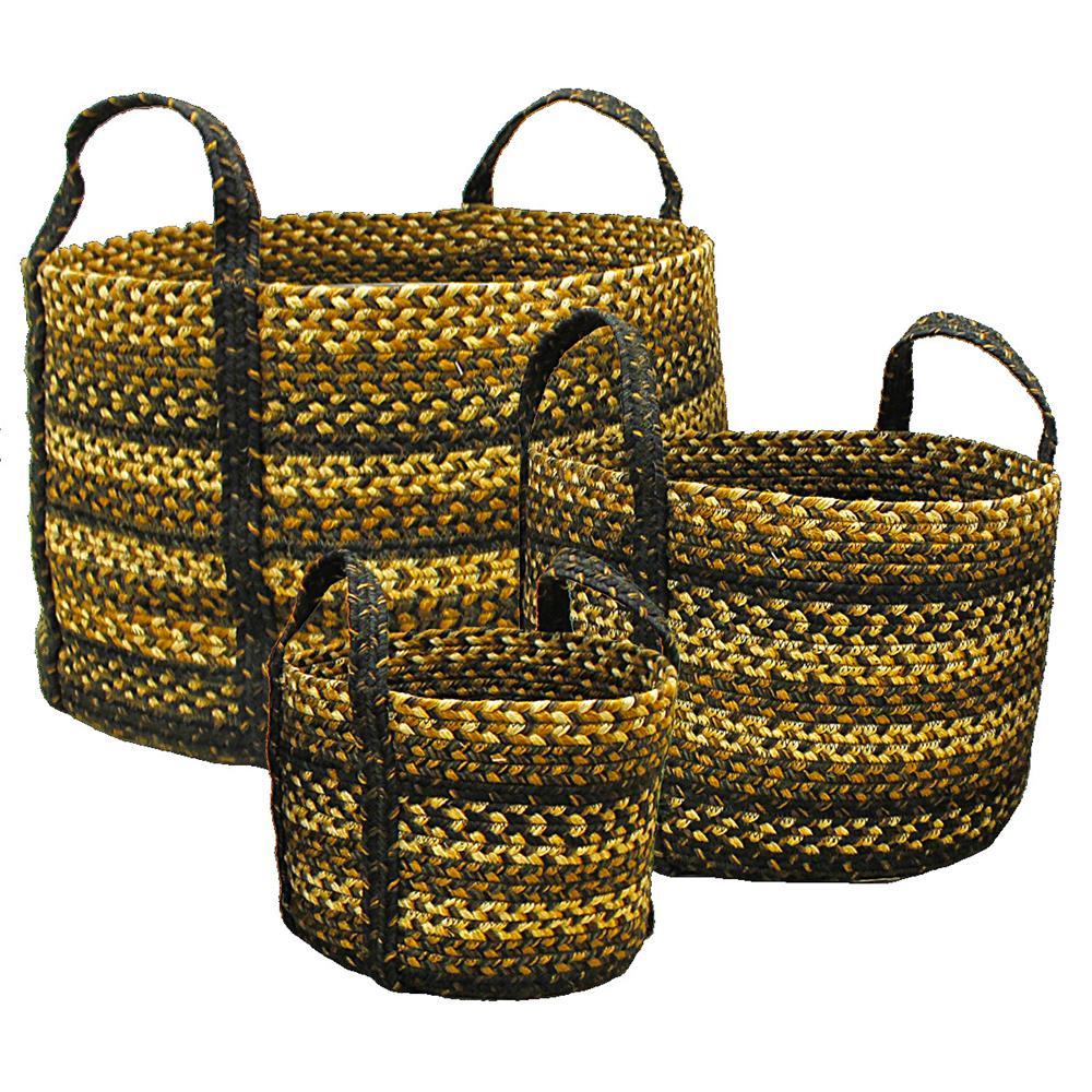 "Homespice Décor 577214 9"" x 9"" x 7"" Kilimanjaro Jute Braided Basket"