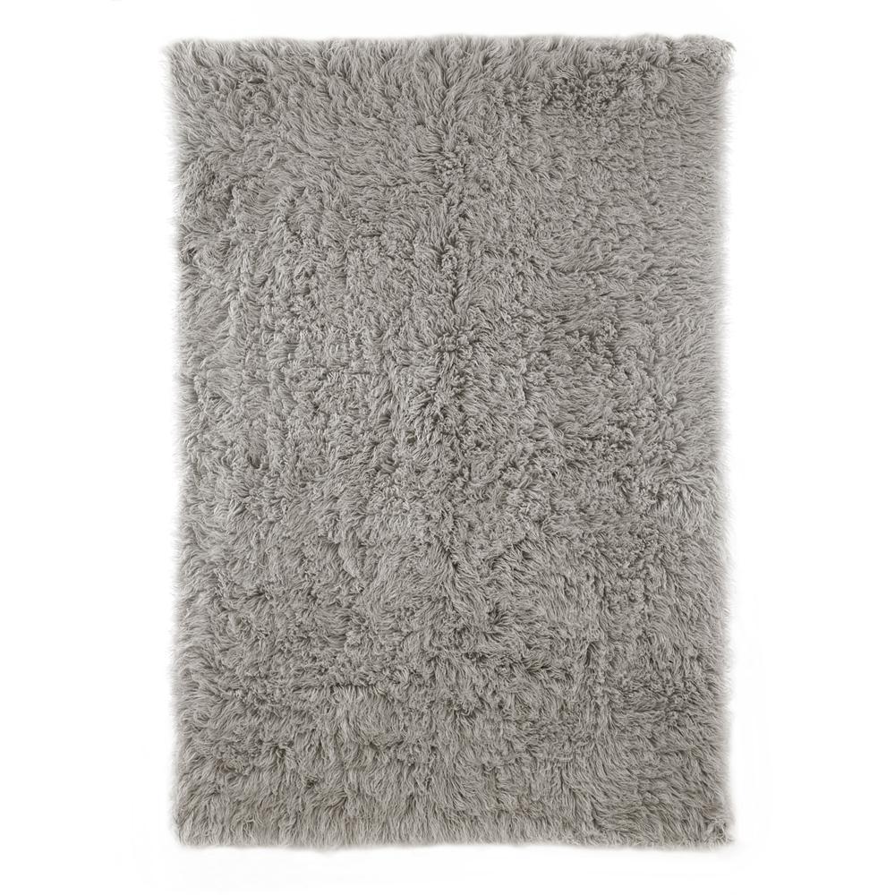 nuLOOM FFS09-305 Natural Grey Flokati Shag Area Rug