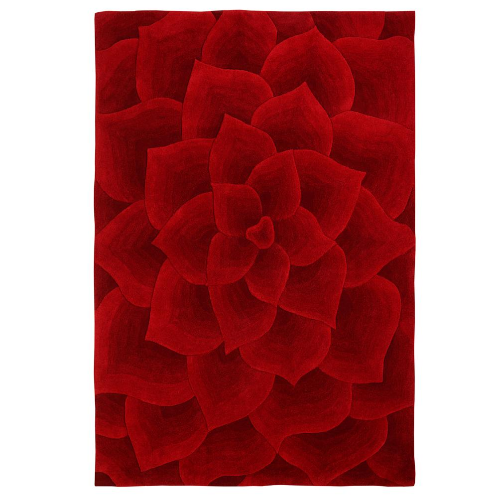 nuLOOM MSEMD05A-508 Red Modella Floral Transitions Area Rug