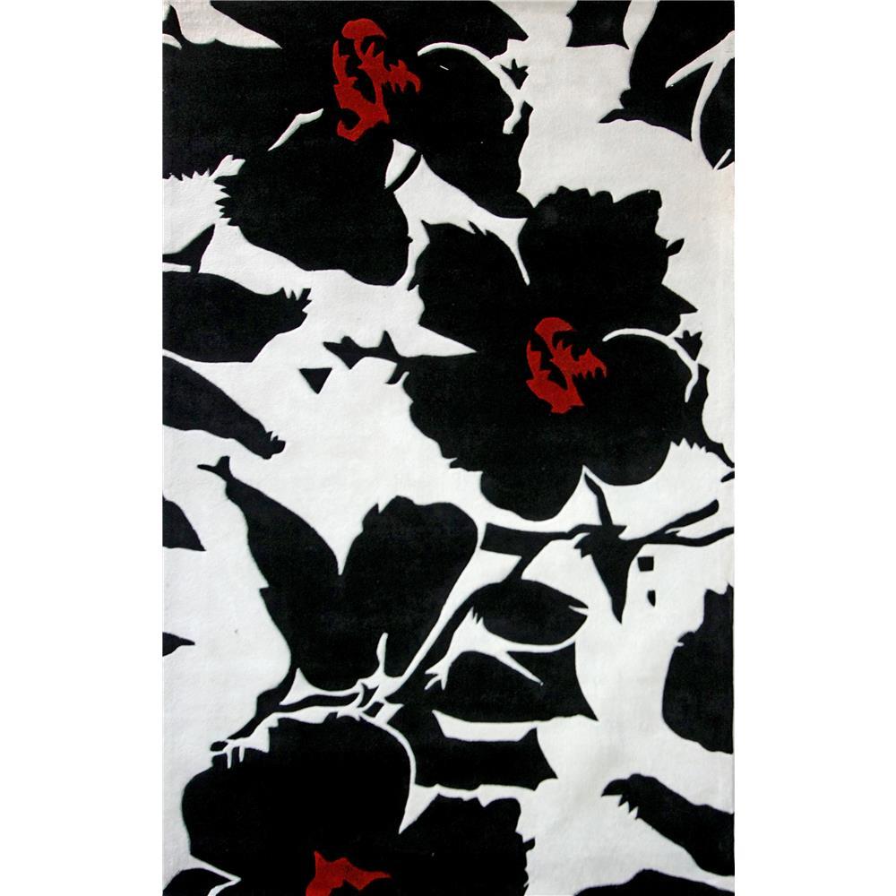 NuloomRugs ACR26-36056 Black 100% Polyester Area rug in 3