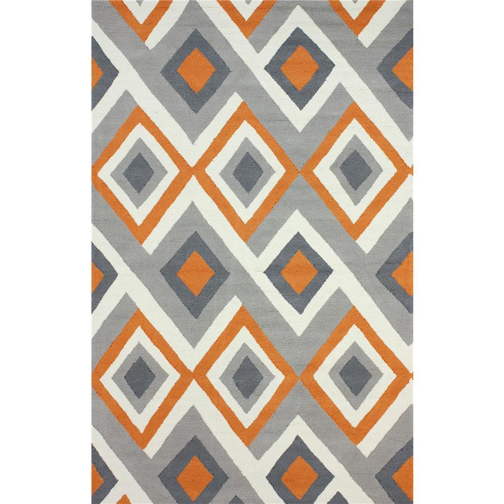 NuloomRugs BHBC62C-508 Orange 100% Polyester Area rug in 5