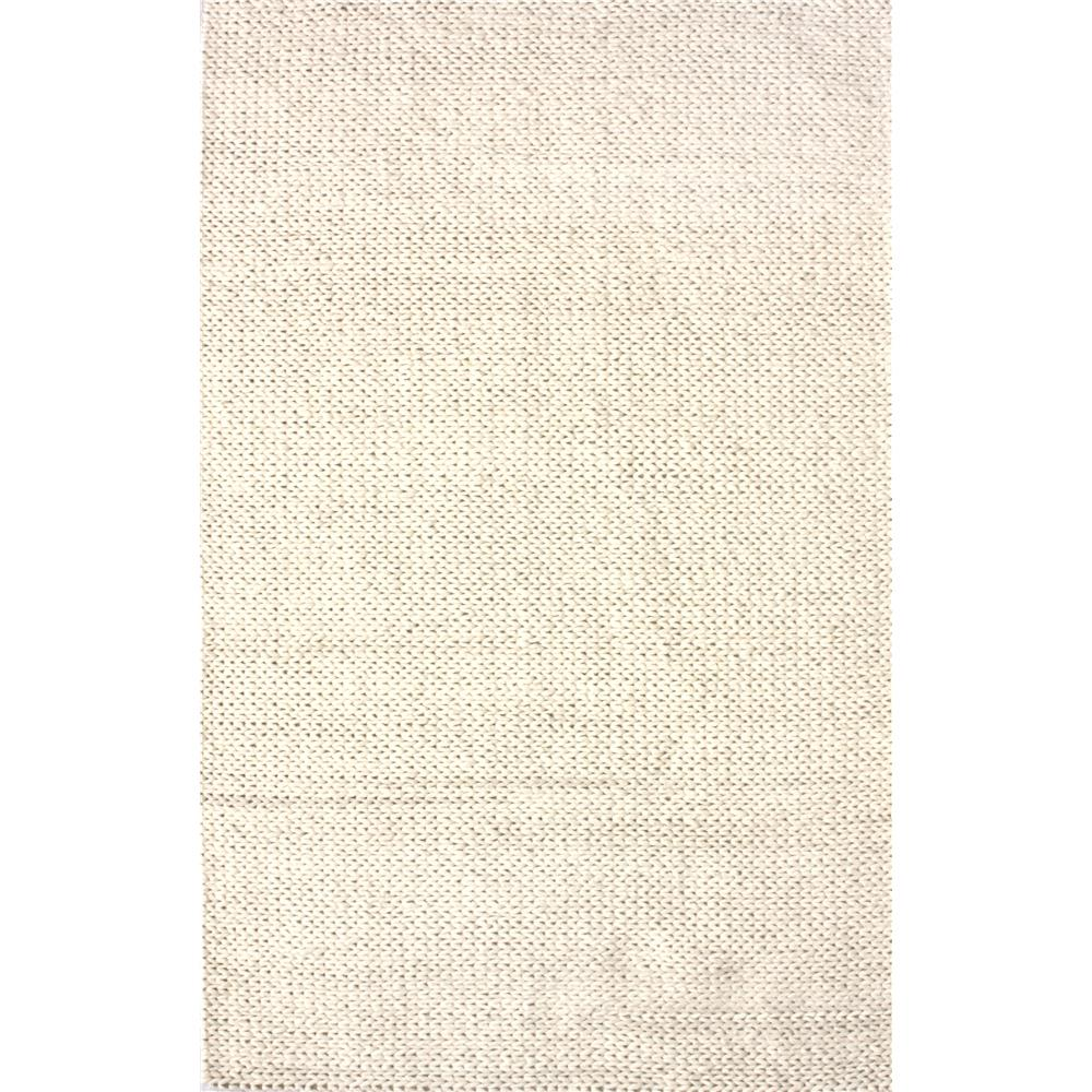 nuLOOM NUB01-305 Chunky Woolen Cable Rug Area Rug in White