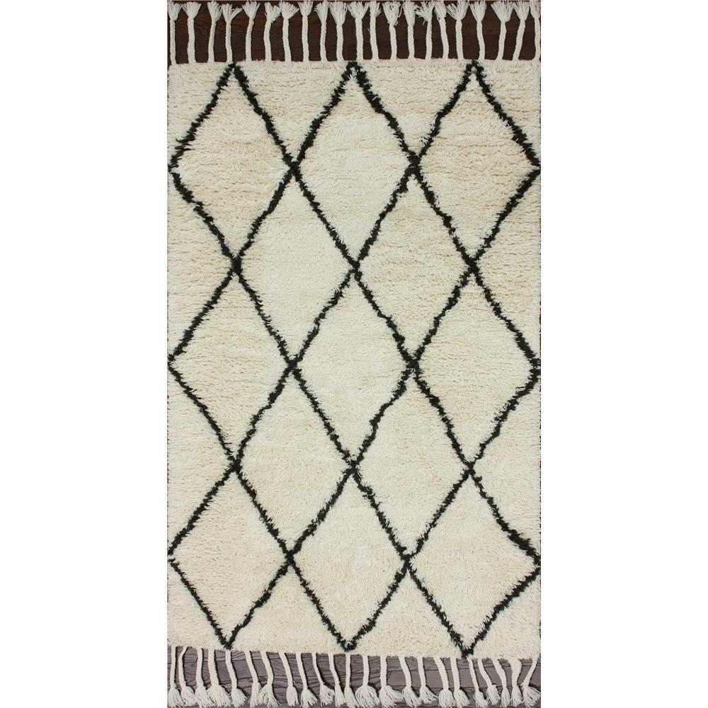 nuLOOM NUPRE14A-406 Moroccan Rug with Tassle  Area Rug in Natural