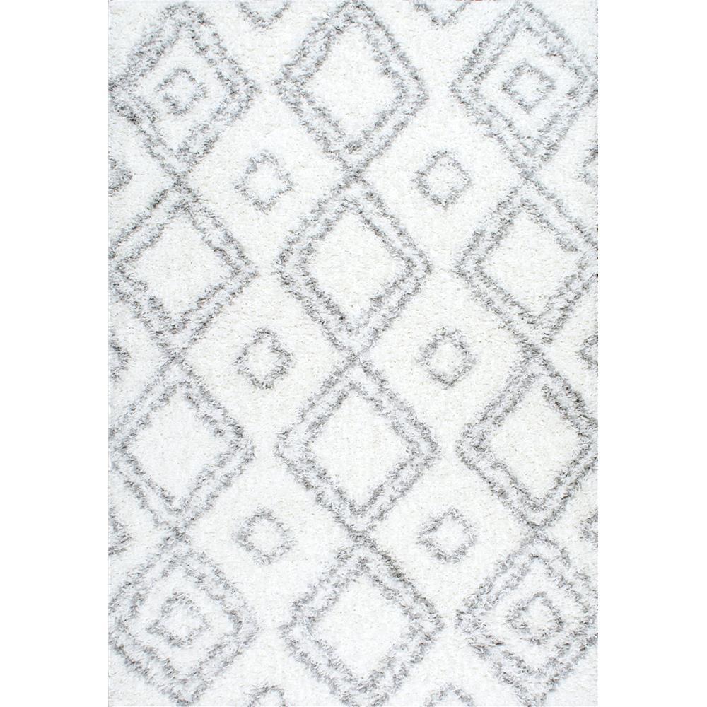 nuLoom OZSG18A-2808 White Area Rug
