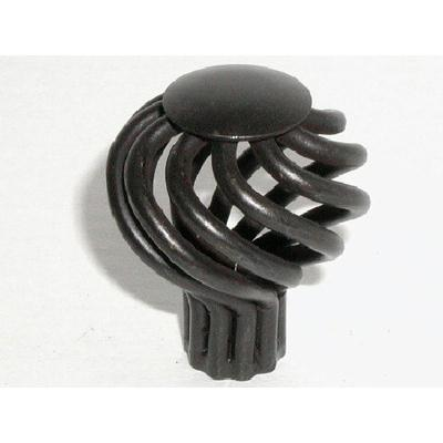 Top Knobs M614 - Small Round Twist Knob 1 1/4 - Patina Black - Normandy Collection