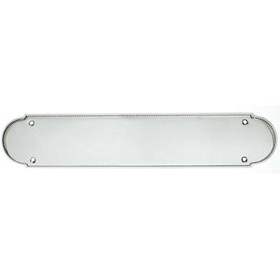 Top Knobs M887 - Beaded Push Plate - Polished Chrome - Appliance Collection