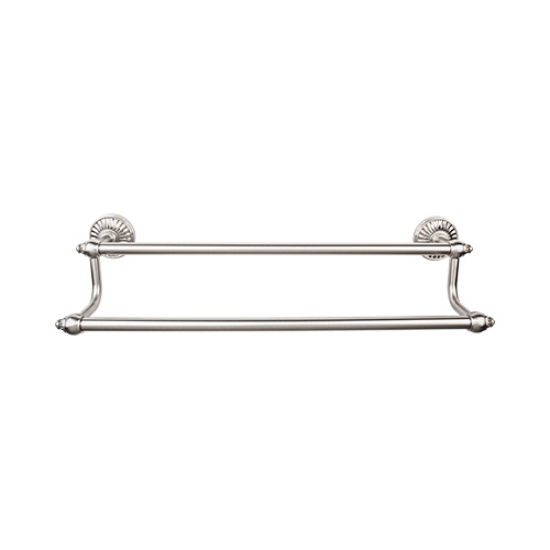 "Top Knobs TUSC9BSN Tuscany Bath 24"" Double Towel Rod - Brushed Satin Nickel"