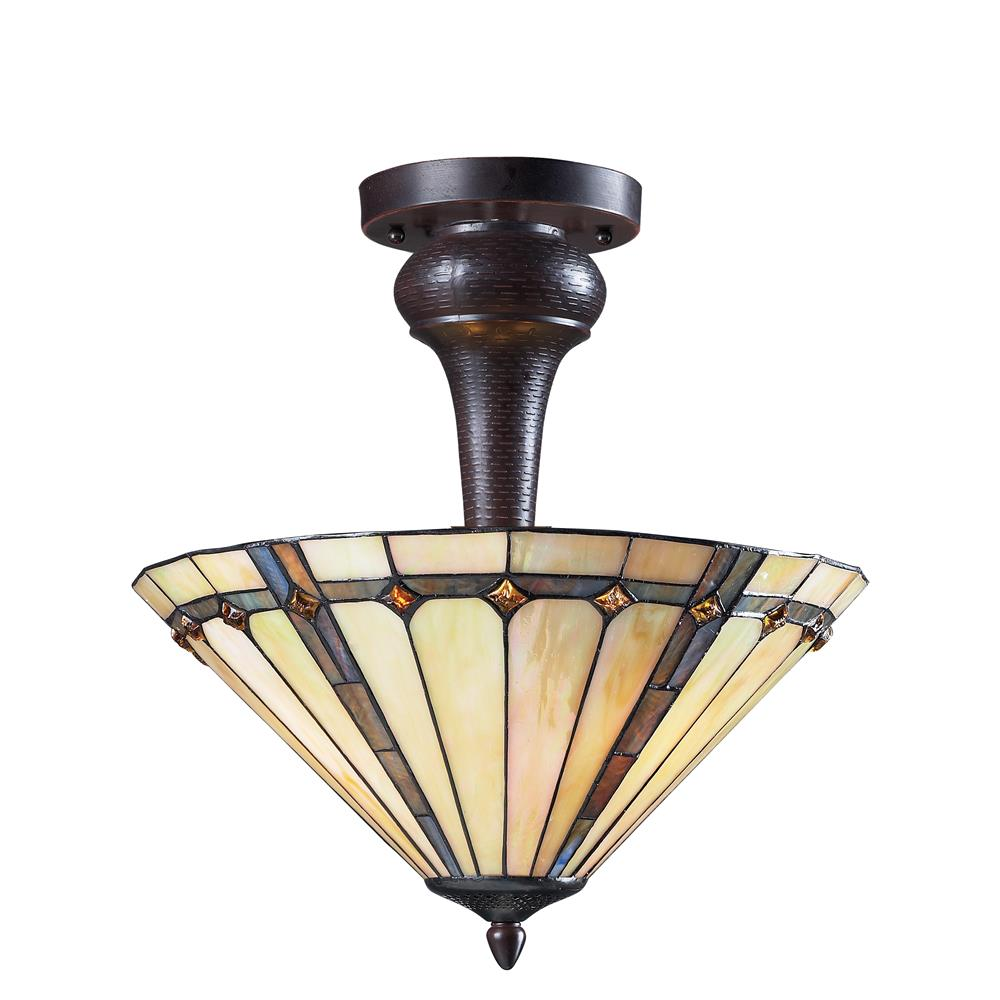 Z-Lite Z16-42SF 3 Light Semi-Flush Mount in Chestnut Bronze