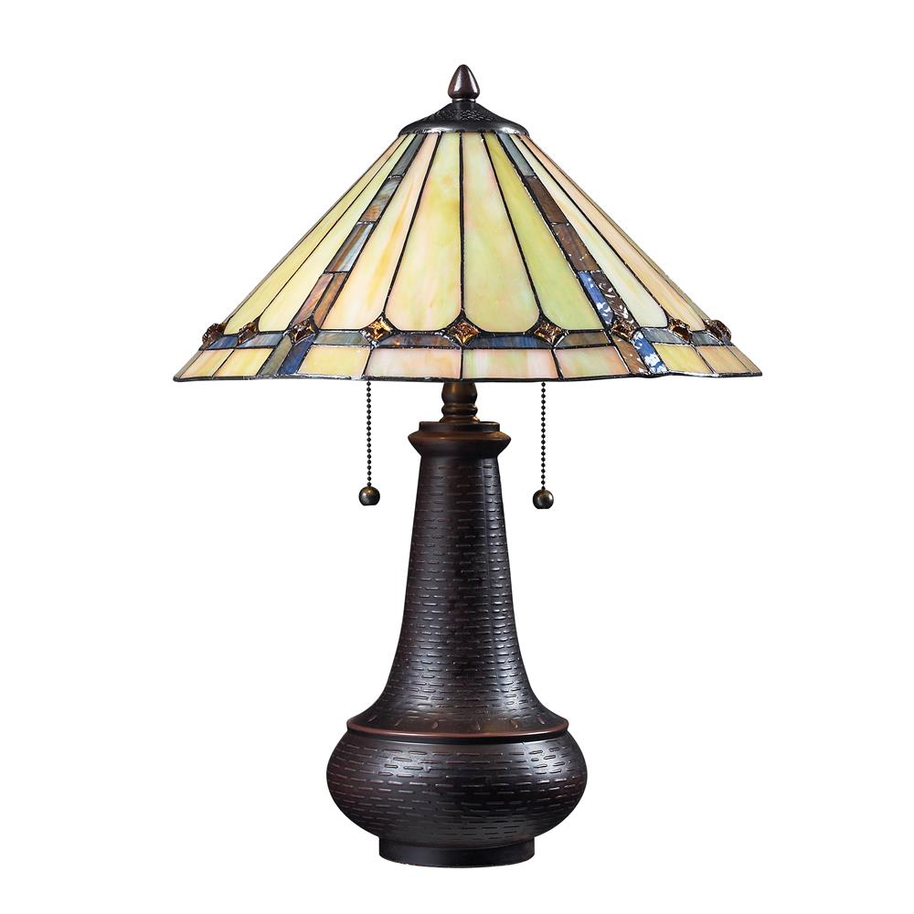 Z-Lite Z16-42TL 2 Light Table Lamp in Chestnut Bronze